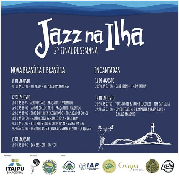 Programação de Jazz na Ilha do Mel