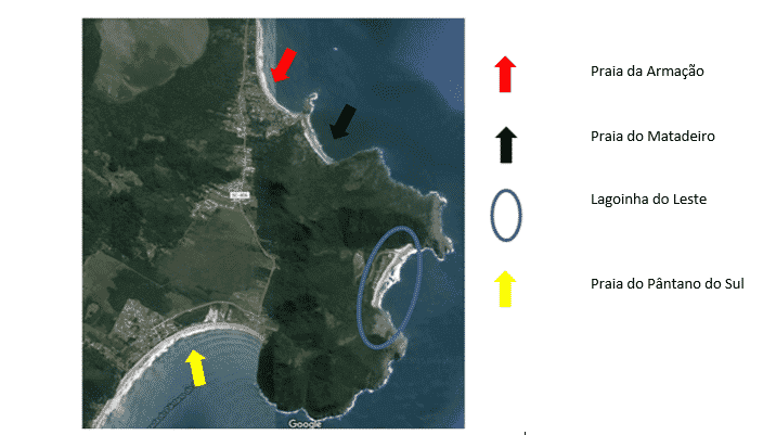 Mapa Lagoinha do Leste - Florianópolis