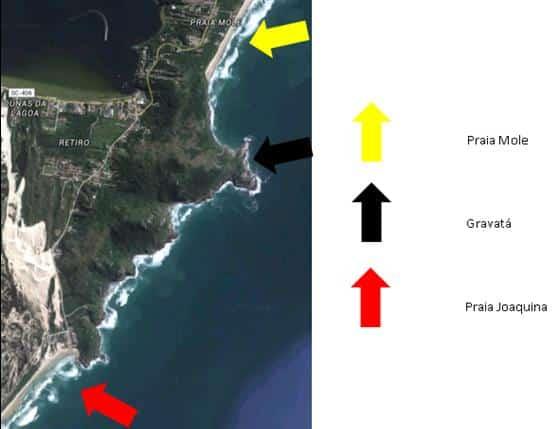 Onde fica a Praia do Gravatá - Florianópolis/SC